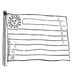 Uruguay flag vintage vector
