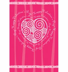 Valentine's day card with heart vector image