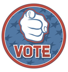 Vote USA badge vector