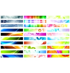 Web banner set vector