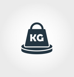Weight measurement icon from measurement icons vector