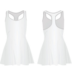 white tennis dress vector image