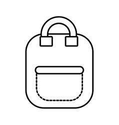 bag school pupil outline vector image