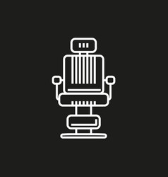 barber chair simple icon on black background vector image vector image