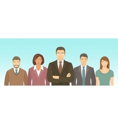 Business people group flat vector image