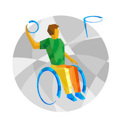 Physically disabled basketball player vector