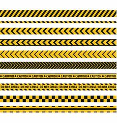 police line crime scene do not cross seamless vector image