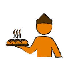 baker catering bread vector image
