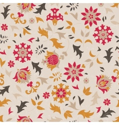 Beautiful seamless pattern with stylized flowers vector image