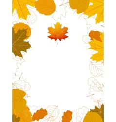 Isolated Autumn Leaves card with maple plus EPS10 vector image