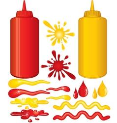 ketchup and mustard vector image