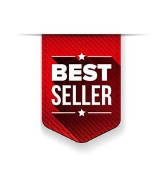 Best Seller red ribbon vector image