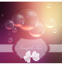 Bubbles background with symbol ribbon vector image vector image