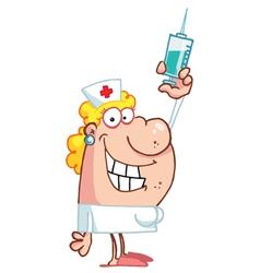 Female Nurse vector image vector image