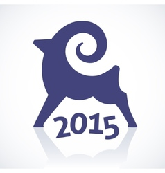 Geometric symbol of a goat 2015 vector image vector image