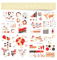 infographics set clear red vector image
