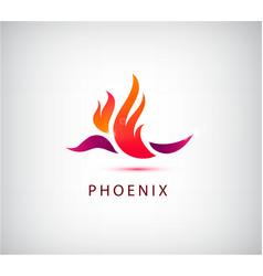phoenix bird icon logo vector image