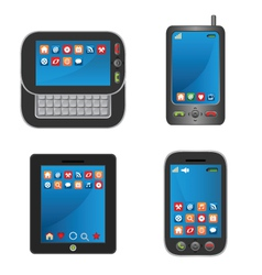touchscreen smartphones vector image vector image