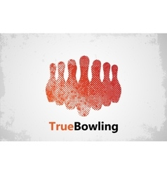 Bowling logo design Bowling poster design vector image vector image