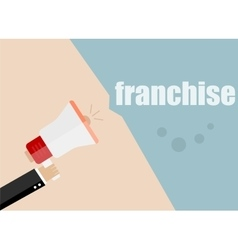 franchise Megaphone Icon Flat design vector image
