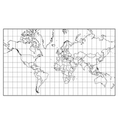 world map isolated on white background vector image vector image