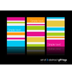 3 separate gift cards with lines vector image