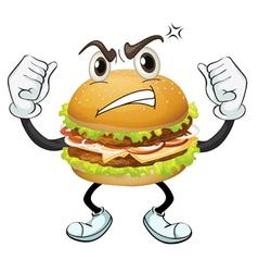 a burger vector image