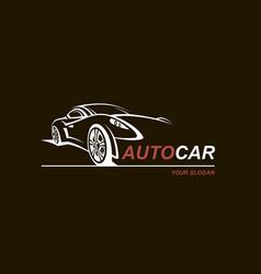 Abstract car emblem vector