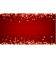 abstract christmas red luminous background vector image
