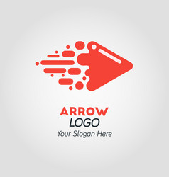 Abstract red arrow logo template vector