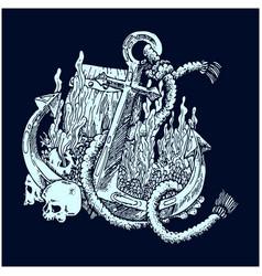 an original a ships anchor vector image