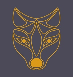 Arctic Fox Icon vector