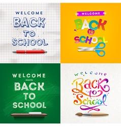 back to school set backgrounds vector image