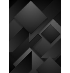 Black paper abstract corporate background vector