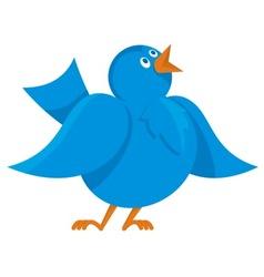 blue bird communication vector image