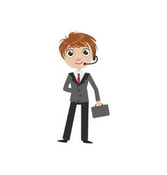 Boy Future Businessman vector
