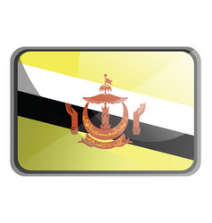 brunei flag on white background vector image