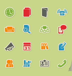 Business simple icons vector