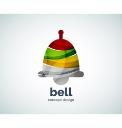 Christmas bell logo template vector image