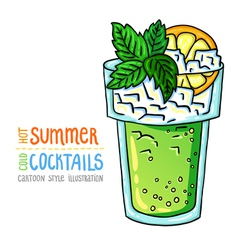 cocktails one cartoon 2 vector image