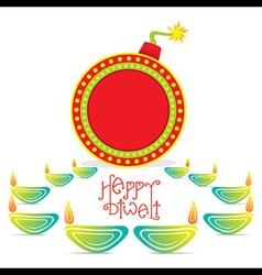 creative happy diwali greeting design vector image