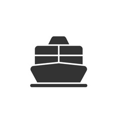 cruise liner or ferry front view glyph vector image