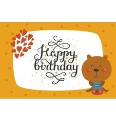 Cute animal card vector image
