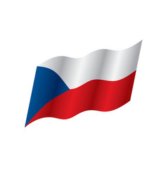 Czechia flag vector