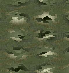 Dot camouflage seamless pattern green vector