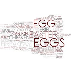 Eggs word cloud concept vector