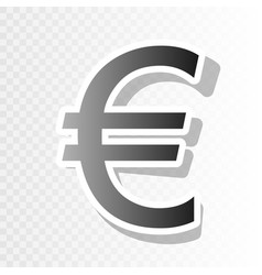 euro sign new year blackish icon on vector image
