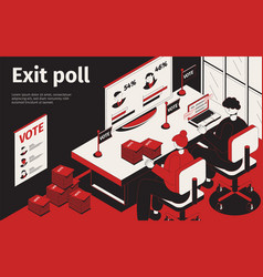 exit poll isometric background vector image