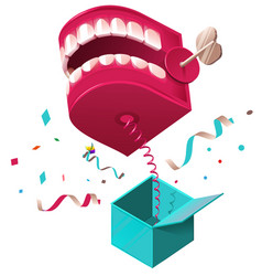 False jaw surprise for april 1 fools day raffle vector