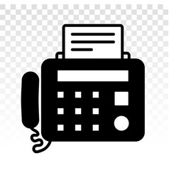 Fax machine flat icons on a transparent background vector
